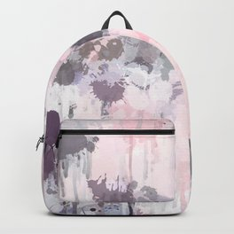 Modern Contemporary soft Pastel Pink Grey Abstract Backpack