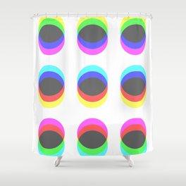 CMYK in RGB Circles Shower Curtain