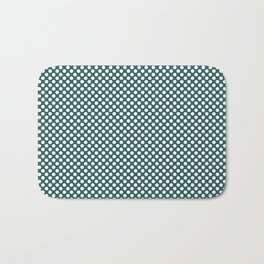 Bayberry and White Polka Dots Bath Mat