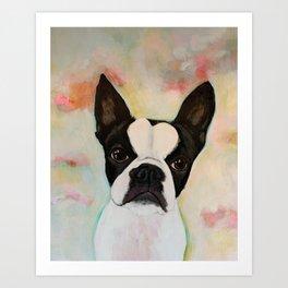Boston Terrier Birdie Art Print