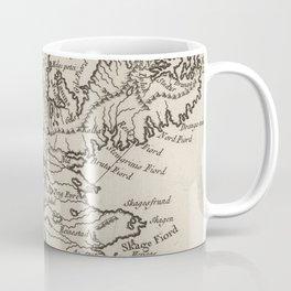 Vintage Map of Iceland (1764) Coffee Mug