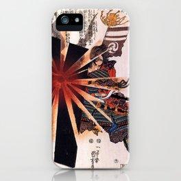 Honjo Shigenaga parrying an exploding shell by Utagawa Kuniyoshi iPhone Case
