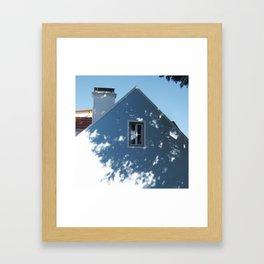 Tree shadow on a house facade Framed Art Print