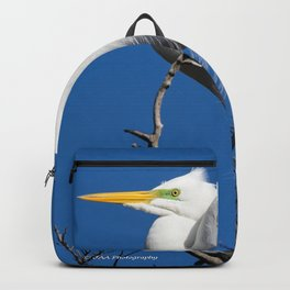 Male Great White Egret Backpack