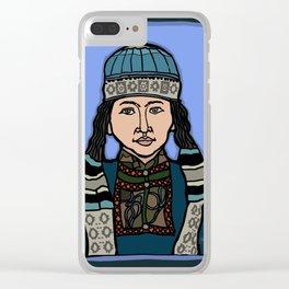 Mongolian Girl Clear iPhone Case