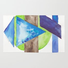 180819 Geometrical Watercolour 8| Colorful Abstract | Modern Watercolor Art Rug