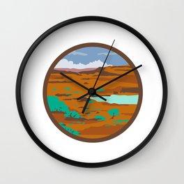 Desert Scene Circle Retro Wall Clock