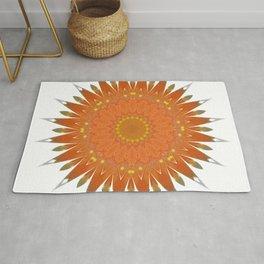 Mandala orange no. 2 Rug