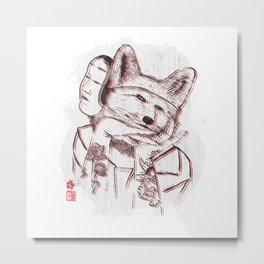 Kitsune Portrait Metal Print
