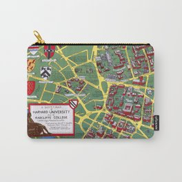 HARVARD University map CAMBRIDGE Carry-All Pouch