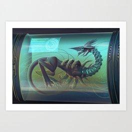 Monster tube Art Print