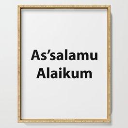 As'salamu Alaikum Serving Tray