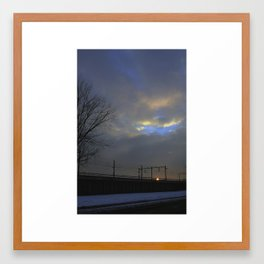 Lonely travel Framed Art Print