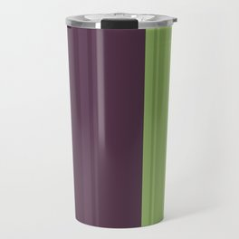 Color Theory   Prickly Pear Simple Stripe Pattern Travel Mug