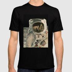 LIFE MAGAZINE: Moon Landing Mens Fitted Tee Black MEDIUM