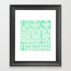 Tie Dye 2 Mint Framed Art Print