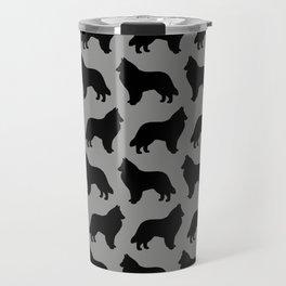 Belgian Sheepdog Silhouette Travel Mug