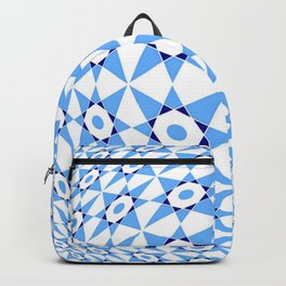 Tribute to Vasarely 9 -visual illusion- with star of david Backpack