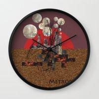 metropolis Wall Clocks featuring Metropolis by beataS