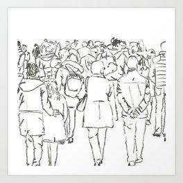 Follow the crowd, Dublin on the move Art Print