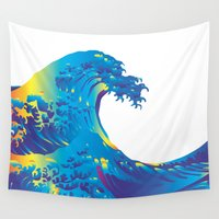 hokusai Wall Tapestries featuring Hokusai Rainbow_B by FACTORIE