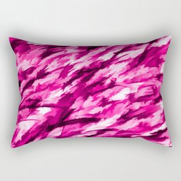 Hot Pink Designer Camo Rectangular Pillow