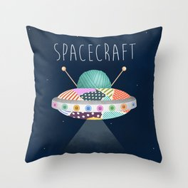 Spacecraft Throw Pillow