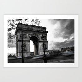 Paris : Arc de Triomphe, défaite d'aujourd'hui Art Print