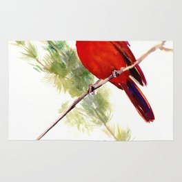 Cardinal Bird, Christmas decor gift Rug