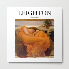 Leighton - Flaming June Metal Print
