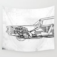 muscle Wall Tapestries featuring Muscle Car by Fernando Vieira