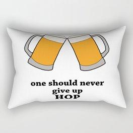 Never Give Up Hop Rectangular Pillow