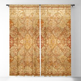 Oversized Antique Turkish Oushak Rug Print Blackout Curtain