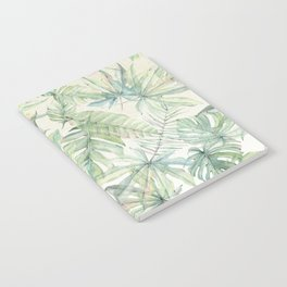 Green Tropical Leaves Notebook