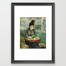 Woman in the Cafe Tambourin by Vincent van Gogh Framed Art Print