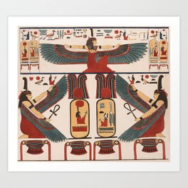 Ancient Egyptian pattern design Art Print