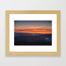 A Catskills Sunrise Framed Art Print