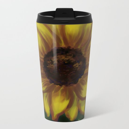 Dramatic Sunflower DP141118a Metal Travel Mug