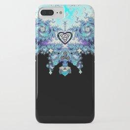 Celtic Fractal Celtic Heart Tapestry iPhone Case