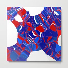 a structure in red and blue Metal Print