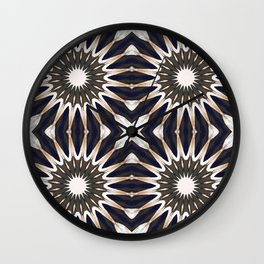 Chocolate Flower Mandala Pattern Wall Clock