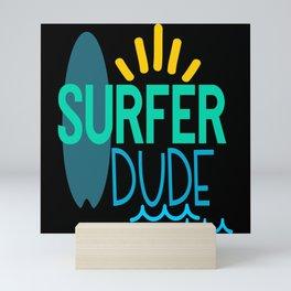 Surfer Dude Mini Art Print