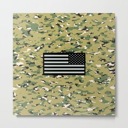 Camouflage: Woodland IV Metal Print