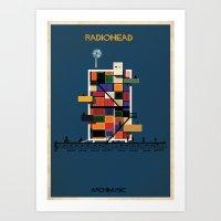 radiohead Art Prints featuring Radiohead by federico babina