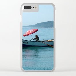 One Man and His Boat Clear iPhone Case