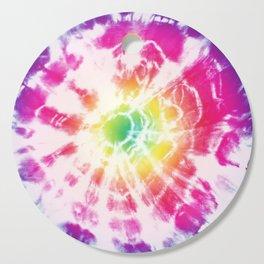 Tie-Dye Sunburst Rainbow Cutting Board