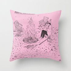 Bonfire for a Loner Throw Pillow