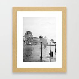 louvre cyclists Framed Art Print