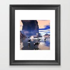 Submarine with orcas  Framed Art Print