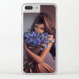 Ephemeral Beauty Clear iPhone Case